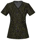 Gold Strike Cherokee Runway Mock Wrap Scrub Top 3665 GOLS