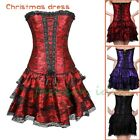 Overbust Plus Size Corset And Bustier Lace up Women Sexy Casual Party Dress K13