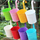 Flowerpot Metal Wall Buckets Planter Flower Tub Pot Hanging Xmas Home Decor New