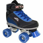 Kids Pacer ZTX Black Quad Roller Skates with Blue Wheels