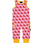 BNWT Baby Girls Maxomorra Dala Horse Jersey Dungarees Playsuit NEW Pink Red