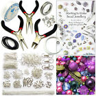 900+ Items Jewellery Making Kit Instructions Findings Tools Cords Bead Mix -PP