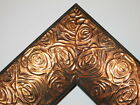 "2.3"" Aged Copper Rose Ornate Wood Canvas Frame Picture Frame-Custom Square Sizes"