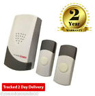 Wireless Cordless Digital Door Chime Bell Plug in wth Twin Bell Push 25 Melodies