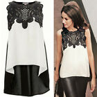 New Summer Women Ladies Casual Lace Shirts Chiffon Blouses T Shirt Tops