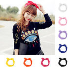 New Women Girl Rabbit Bow Style Hair Band Scarf Elastic Stretch Headband Turban
