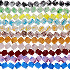 Colorful Square Cube Crystal Glass Loose Beads 10mm Fashion Jewelry DIY