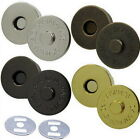 "10 25 50 100 pcs 3/4"" 18mm Magnetic snaps purse closures Round Pick Color"