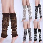 2015 New Women's Warm Leg Warmers Ladeis Snowflake Deer Printed Winter Leg Socks
