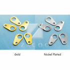 10g(150pcs) Wholesale Iron Necklace Ends Tips Chain Tags For Clasps 9x5mm