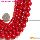 "Jewelry Making Fashion Round Smooth Coral Gemstone Loose Beads Strand 15"" sd2121"