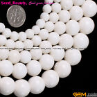 """Natural Round Matte White Coral Gemstone Beads for Jewelry Making Strand 15"""""""