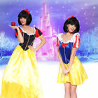 Lady Princess Snow White Costume Fairytale Book Week Carnival Fancy Dress Outfit