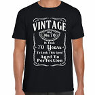 grabmybits - Vintage 70th Birthday T Shirt - Funny,Gift, 70 Years Old, Retirment