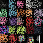 600Pcs+24 S Clips+Multicolor Rainbow Rubber Bands Loom DIY Anklet Bracelet Ring