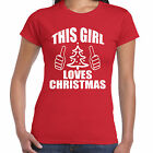 grabmybits - This Girl Loves Christmas Ladies T Shirt - Xmas, Gift, Tee, Girls