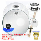 Drummer's Christmas Selection Box Gift Pack Remo Evans MoonGel Vic Firth Sticks
