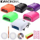 Kit 36W Nail Art Lampe Lamp Timing UV Gel Ongle Strass Polish Manucure Dryer Set