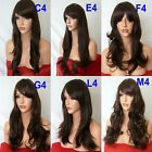 BROWN Curly Layered FULL WOMEN LADIES FASHION HAIR WIG Fancy dress wigs #4