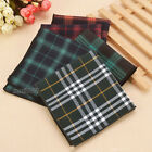 Dark Tone Wedding Check Pattern Men Cotton Pocket Square Handkerchief Hanky