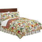 Collections Etc Kew Gardens Reversible Floral Quilt