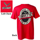 Corvette Legendary Speed Made In America Red T-Shirt