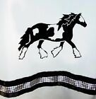Gypsy Vanner Horse Shower Curtain Choice of Colors for you!
