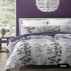 STENCIL Leaf Floral  Silver Mauve - Quilt Cover Set - SINGLE DOUBLE QUEEN KING