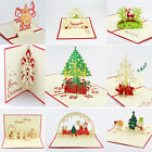 3D Pop Up Handmade Christmas Cards Holiday Greeting Cards Vintage Originality