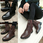 New Fashionable Men's Retro Combat boots Winter England-style short shoes