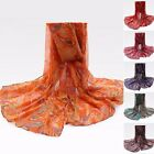 Elegant Voile Silk Scarf Lady Women Long Soft Shawl Wrap Neck Warm Stole Beach