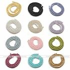 Multicolor Round Faux Glass Pearl Spacer Loose Ball Beads Diy Necklace Jewelry