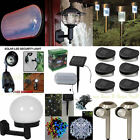 Solar Powered Outdoor Light's Lighting Garden Patio Shed Garage Wall Fence Drive