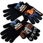 BLACK CHILDREN KIDS KNITTED WINTER THERMAL INSULATED GLOVES SNOWBOARD OUTDOOR