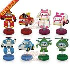 Party Gifts 1PCS Robocar Poli PVC Spring dolls,Stand up Dolls,Shaking Head Dolls