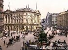 Picadilly Circus / Spaten Beer Sign, London, England -1890- Historic Photo Print