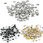 300/1000pcs Nail Art Decoration Round Metallic Studs Rivet Silver Gold Black
