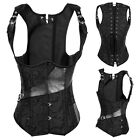 Lady Goth Waist Control Lace up  Steel Boned Training Steampunk Corsets Hot I23