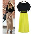 Vintage Hippie Boho Pleated Casual Womens Skirt Ladies Dress AU sz 6-18