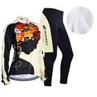 Women Cycling Road Bike Bicycle Team Clothing Thermal Fleece Jersey Jacket&Pants