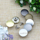 12 Pcs Metal Round No-Sew High-grade Buttons For Coat Jeans Pants Denim Shirts