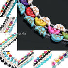 1 Strand Howlite Turquoise Cute Animal Turtle Cross Moon Face Loose Charms Beads