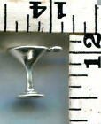 VINTAGE STERLING BRACELET CHARM~3D~A MARTINI~ONE OF THE FOUR FOOD GROUPS~$12.99!