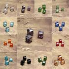 20pcs 6mm Square Cube Glass Crystal Charm Finding Loose Spacer Beads DIY Jewelry