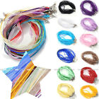 LOT 4mm Organza Voile String Ribbon Necklace Silk Cords Colorful Adjust DIY Gift