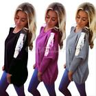 Women's Lady Loose Long Sleeve Sequin Batwing Coat Casual Blouse T-Shirts Tops