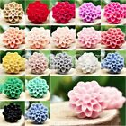 20/25pcs Wholesale Resin Flat Back Cameo Flowers Cabochons DIY 13x13x7.5mm