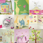 Girls Characters Large Wall Accent - Kid Bedroom Cartoon Pink Wall Sticker Decal