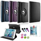 4in1 360 Degree Rotating Leather Stand Case+Film/3.5mm Stylus For iPad Mini 4