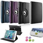 2in1 360 Degree Rotating Leather Stand Case+3.5mm/Home Sticker For iPad Mini 4